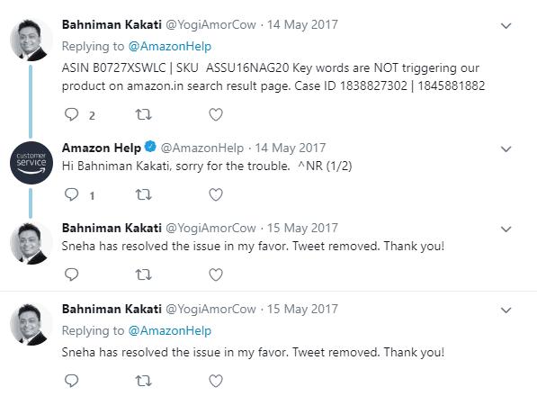 AmazonHelp twitter Improve Customer Service