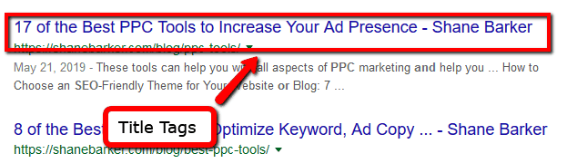 Write Relevant Title Tags On Page SEO Factors