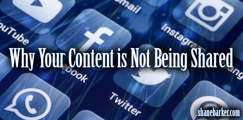 why your content is not being shared