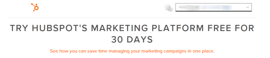 Commitment and Consistency - HubSpot 30 Day Trial