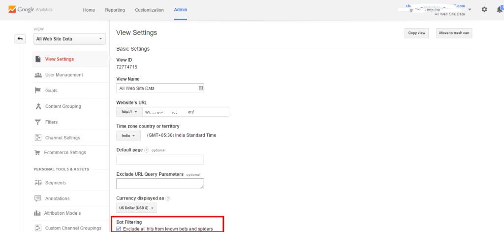 Google Analytics bot filters Referral Spam