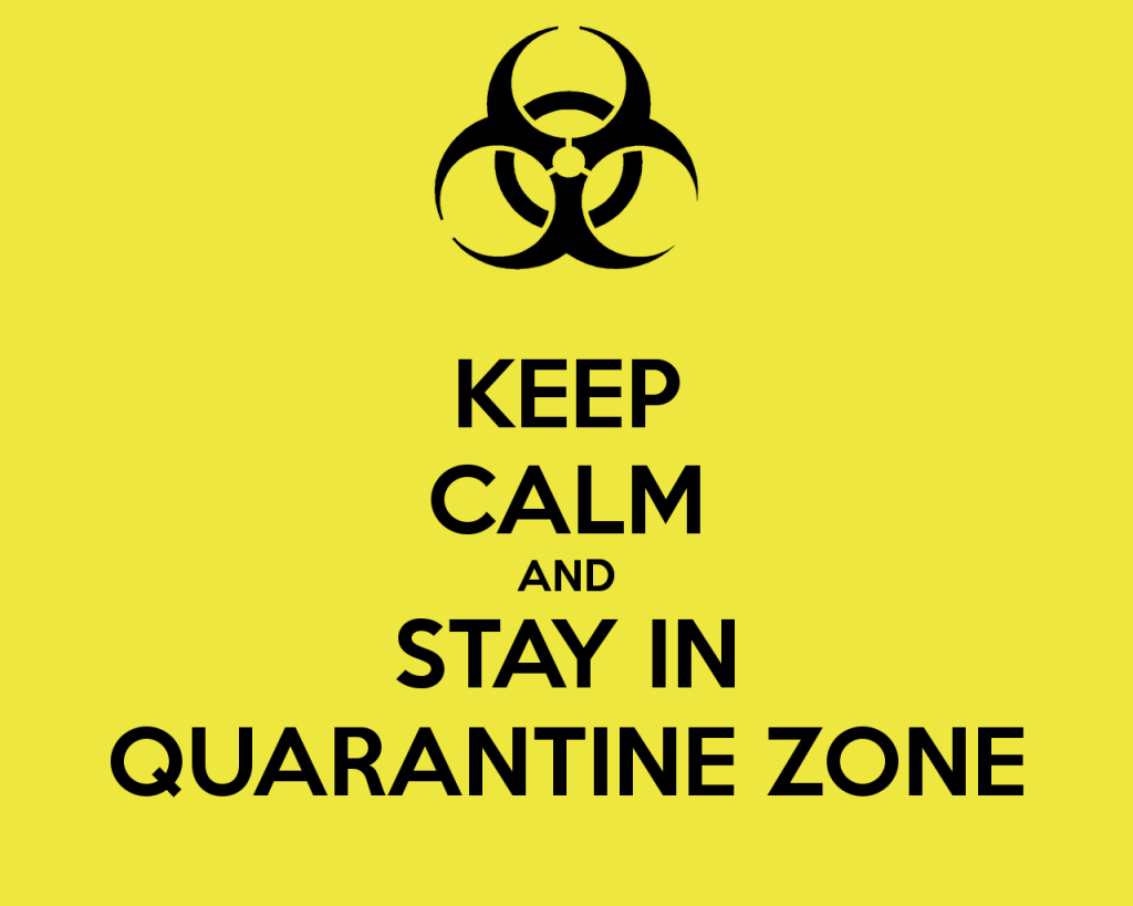 keep calm and stay in quarantine zone Hacked Websites
