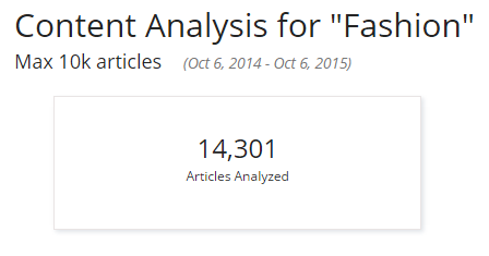Content analysis - Fashion