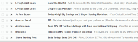 Amazon's M3 - email marketing subject lines