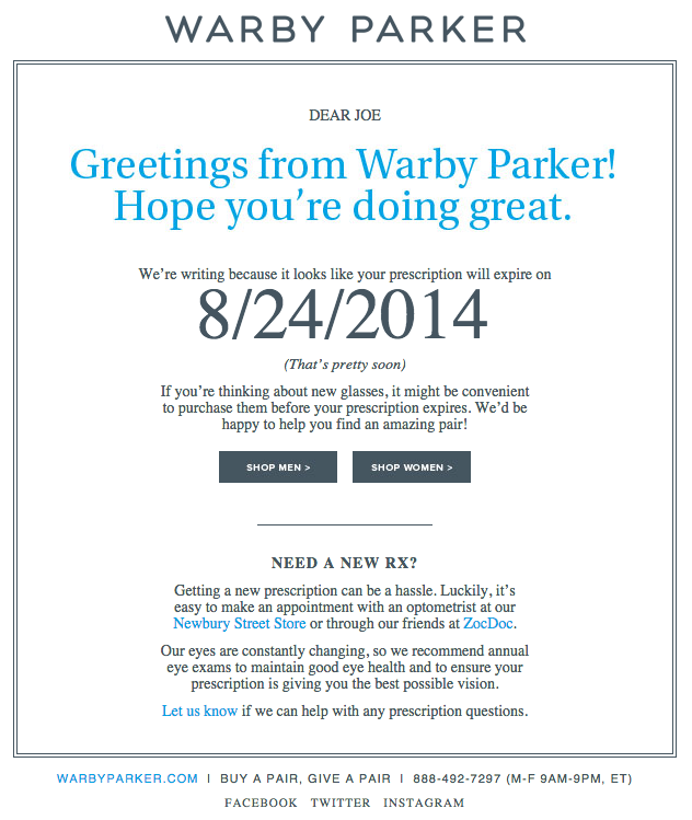 Uh-oh, Your Prescription is Expiring- email marketing subject lines
