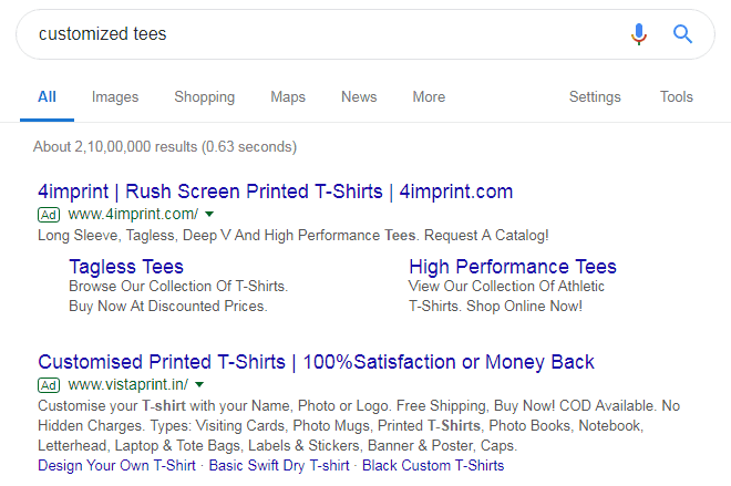 Use Your Primary Keyword in Your Ad Click-Through Rate