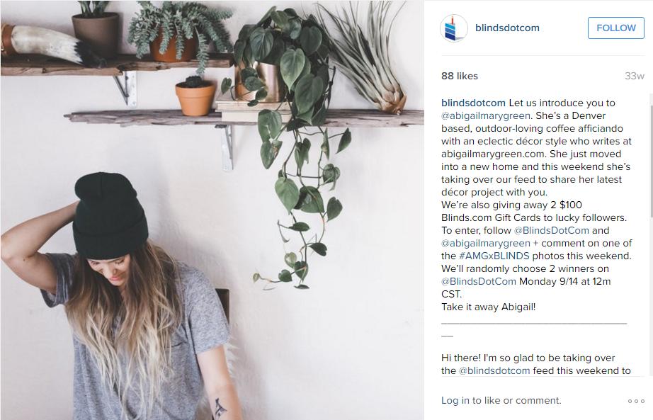blindsdotcom influencer marketing Strategy