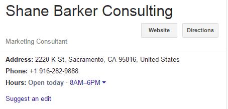 Update Correct Business Information-Sacramento SEO Consultant