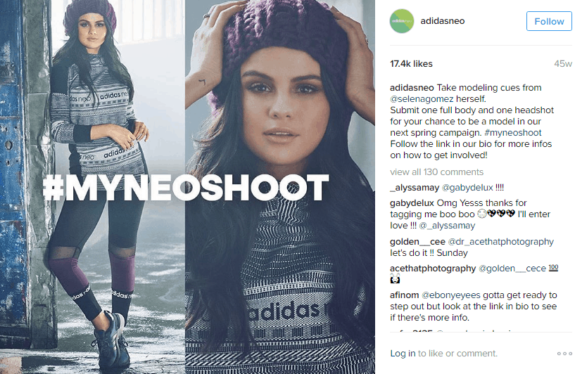 addidas - influencer marketing examples