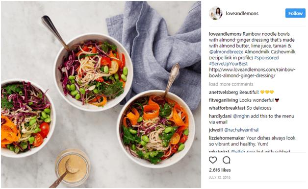 loveandlemons - influencer marketing examples