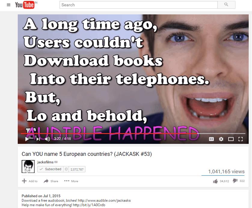 audible-youtube-influencer-marketing-strategy
