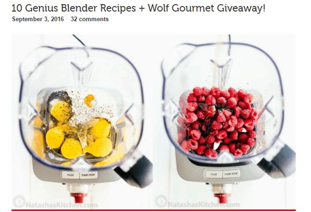 blender - influencer marketing examples