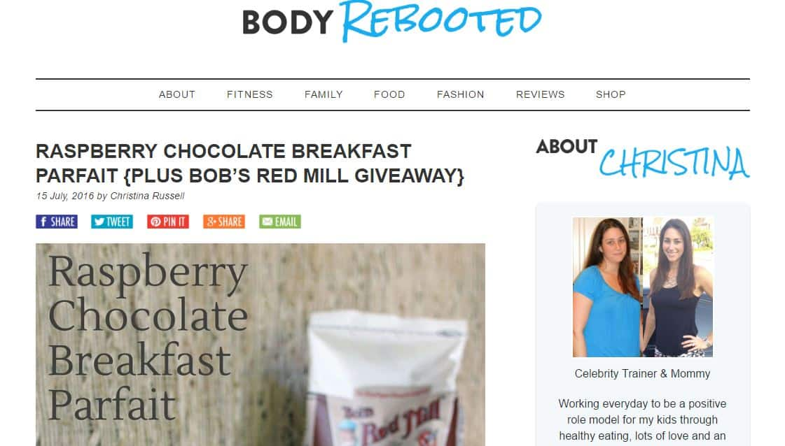 Body Rebooted - influencer marketing