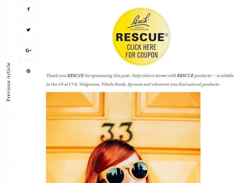 Rescue Coupon Promotion - Influencer marketing case studies