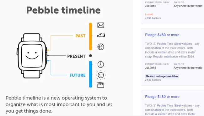 Pebble Time Kickstarter product launch marketing ideas