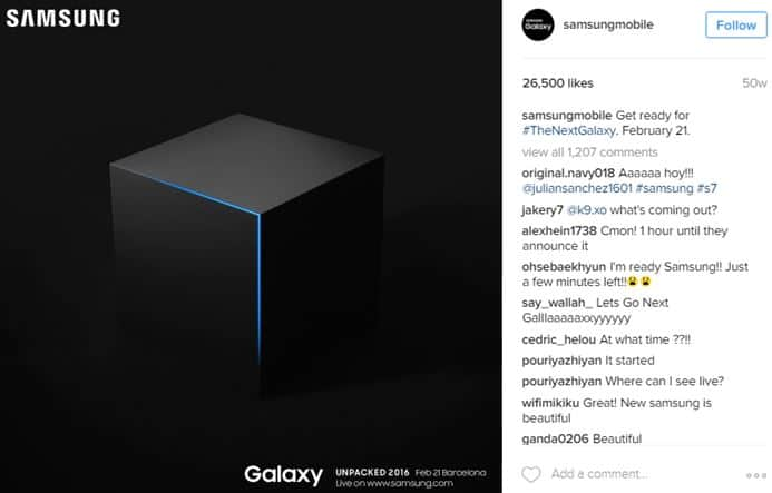 Samsung Instagram Teaser product launch marketing ideas