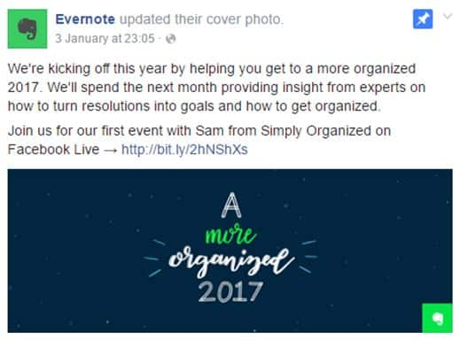 Evernote Graphic product launch marketing ideas