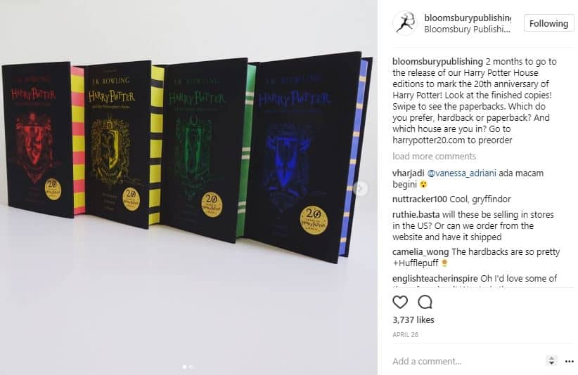 Bloomsbury Publishing Instagram product launch marketing ideas