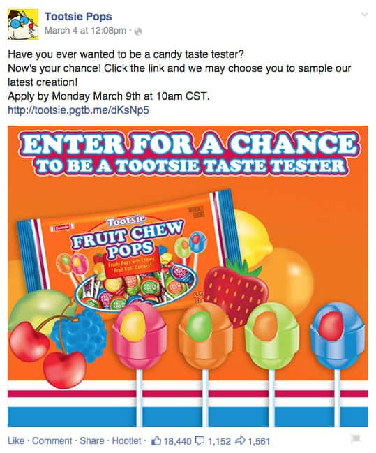 Tootsie Pops first product launch