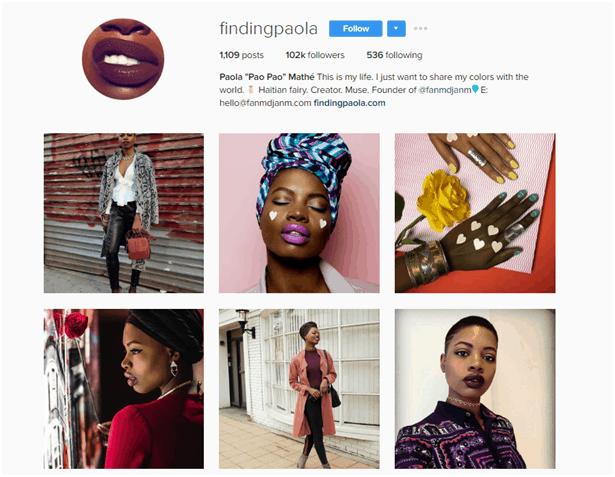 Paola Mathé Instagram account - Micro vs. Macro Influencer Marketing