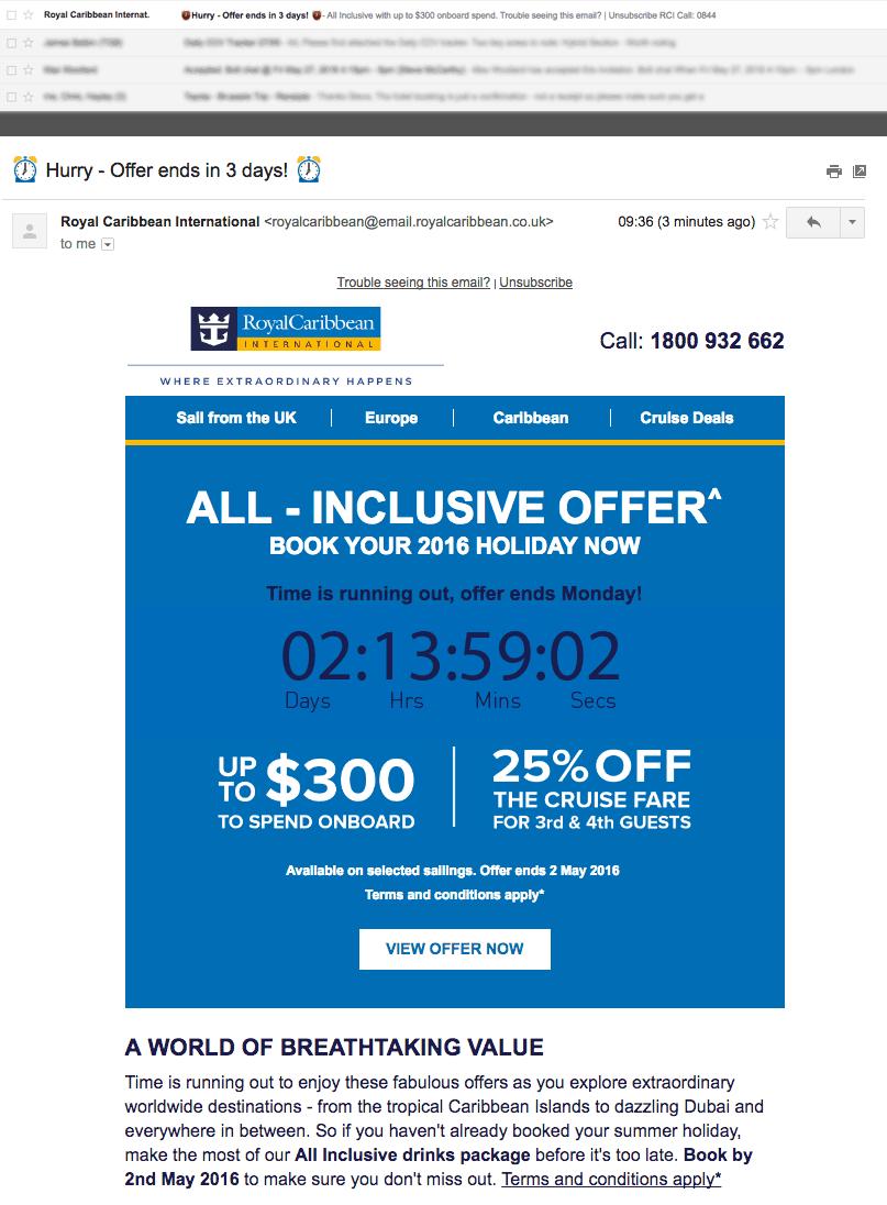 Marketing Emails A/B testing