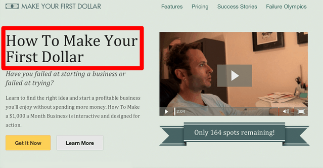 BEHAVE landing page example 2 - A/B Testing to Improve Your CRO