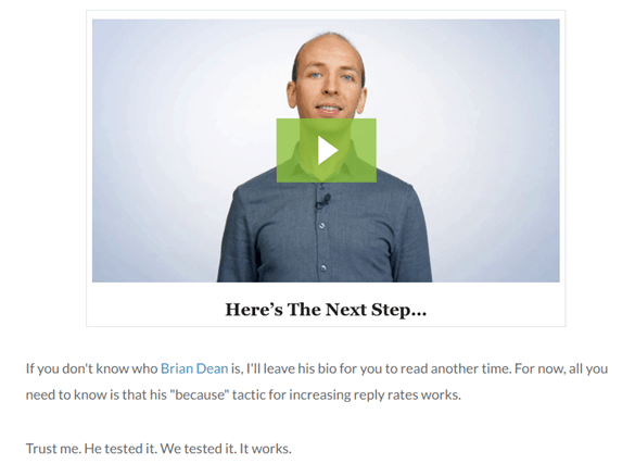 Brian Dean Backlinko video screenshot - Content Marketing Tips