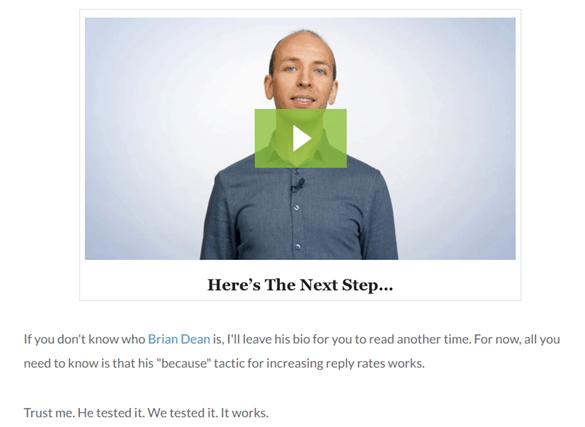 Brian Dean Backlinko video screenshot - Influencers in Content Creation