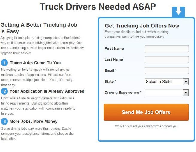 Truckers Report website AB testing