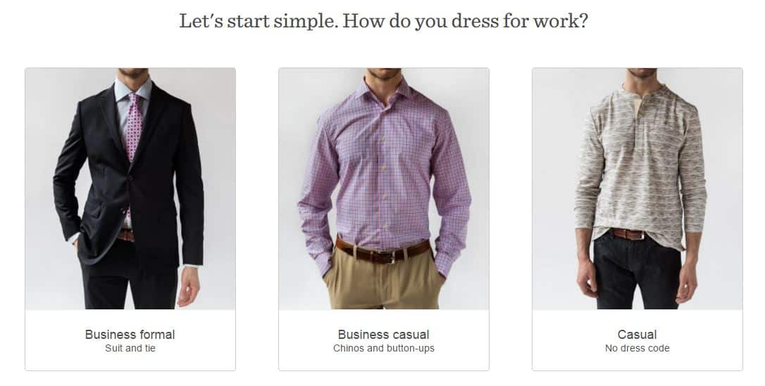 Trunk Club new sign-up process - A/B Testing to Improve Your CRO