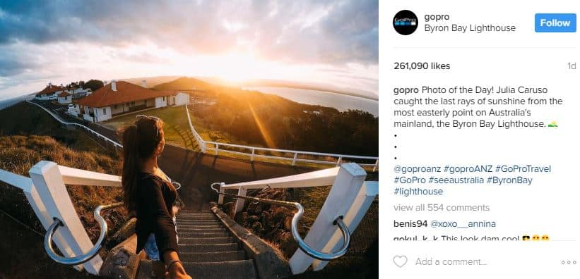 GoPro uses Instagram marketing - social media marketing