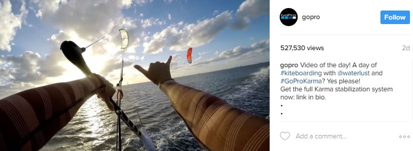 gopro video promotion instagram - engagement on social media