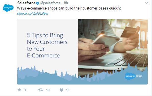 content marketing Salesforce twitter - Components of Sales Funnel