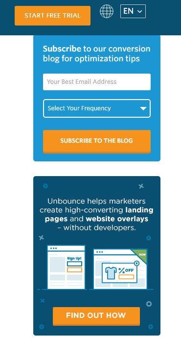 Create compelling CTA - Unbounce