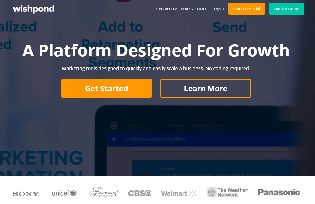 social proof wishpond homepage - Components of Sales Funnel