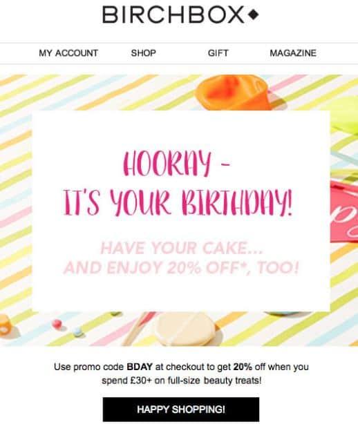 Birchbox - best email marketing tools