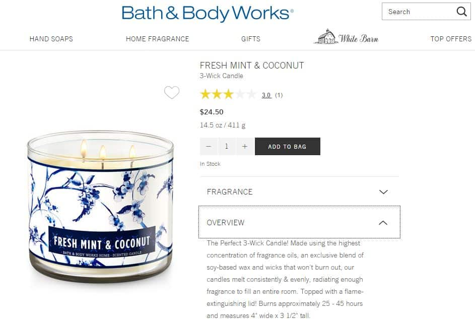 How to increase sales with product page optimization for Where are bath and body works products made