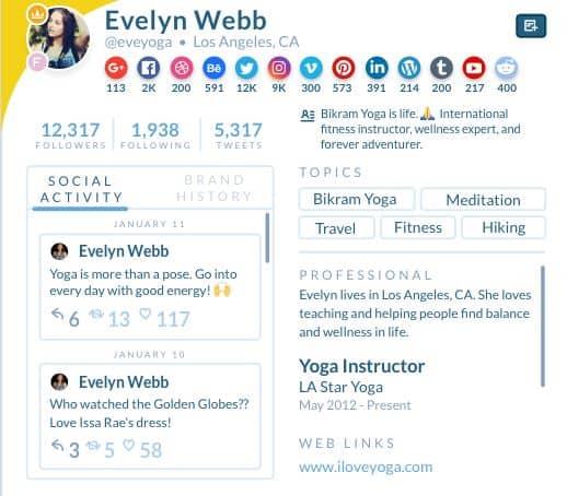 evelyn webb facebook influencer marketing