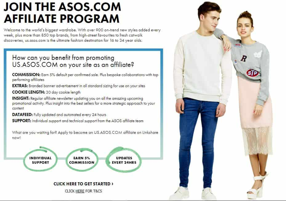 asos affiliate program - money on social media