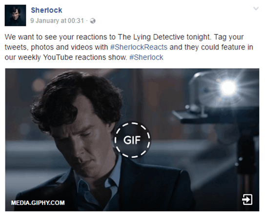 Sherlock episodes on social media successful product launch