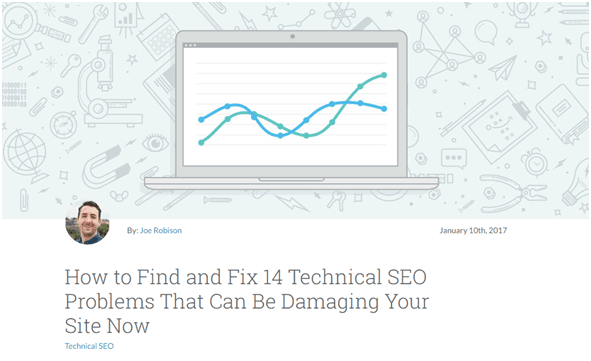 guest post on Moz about technical SEO problems successful product launch