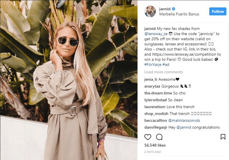 Janni Delér - Social Influencer Marketing