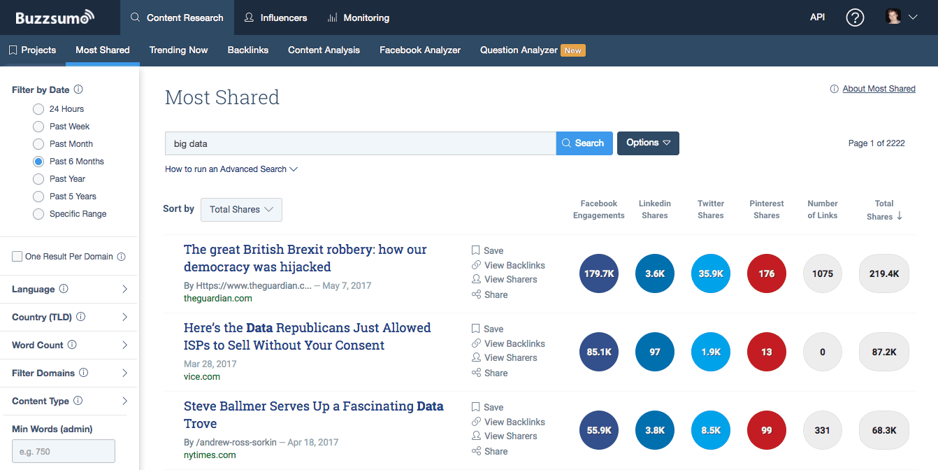 Buzzsumo - Influencer Outreach