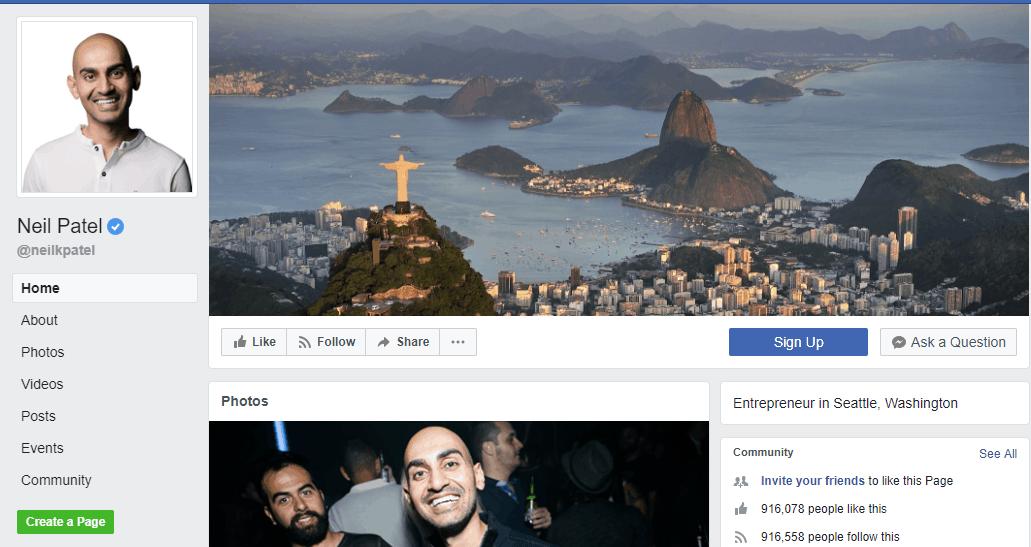Neil Patel Social Media Influencers