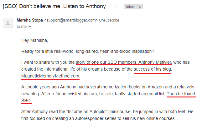 Send Storytelling Emails Customer Testimonials