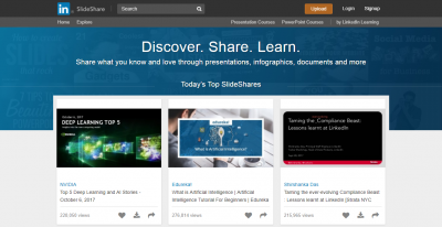 infographic submission websites - SlideShare