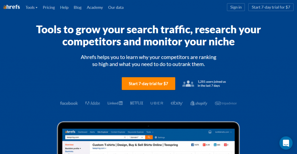 Ahrefs Competitor Research keyword suggestion tools
