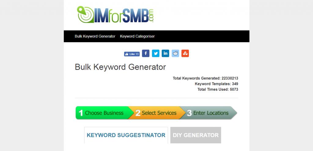 Bulk Keyword Generator suggestion tools