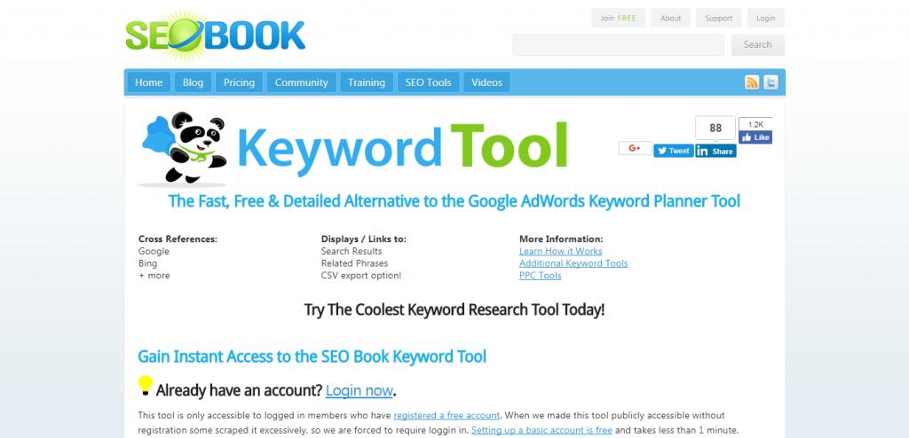 SEO Book Free keyword suggestion tools