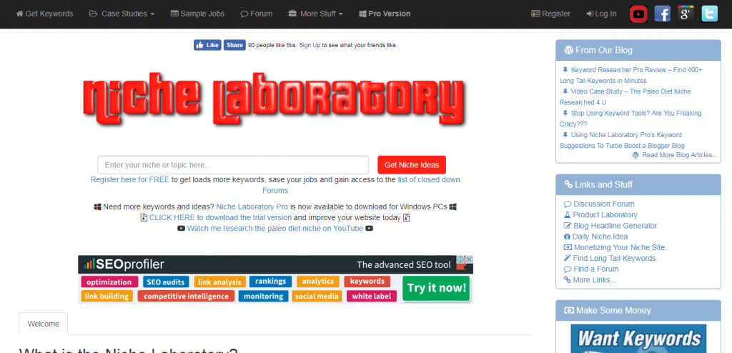 Free LSI Keywords and Niche Researching Tool keyword suggestion tools